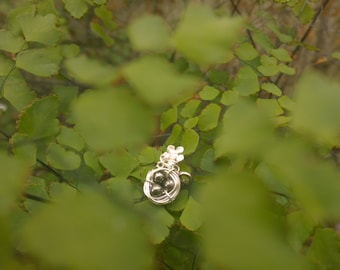 Mothers Day Wire Wrapped Bird Nest Charm