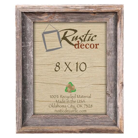 8x10 2 wide Rustic Barn Wood Signature Photo Frame