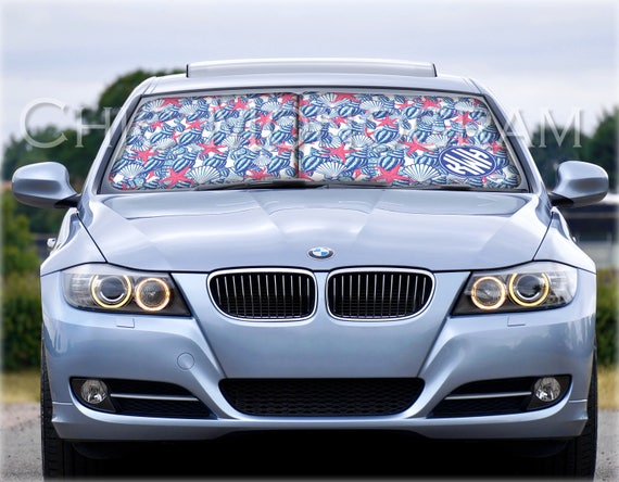 Personalized Windshield Sun Shades Custom Car Sun Shade Monogrammed Sunshades For Car Lilly Inspired She She Shells Car Accessories for Her