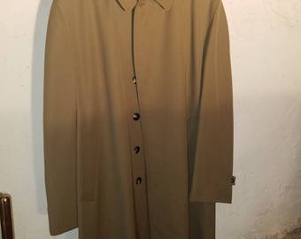 vintage gold alligator mens overcoat