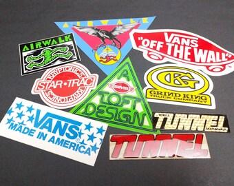 Vintage Surf Skate Bumper Stickers
