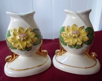 Hull art candle holders