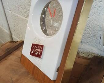 Schlitz Beer vintage light up bar clock