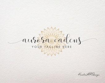 Gold logo, Handwritten logo, Sun logo, Luxury logo design, Photography watermark, Elegant, Handwritten, Watermark 343