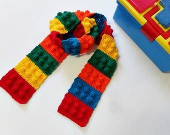 Crochet / Color Block Scarf