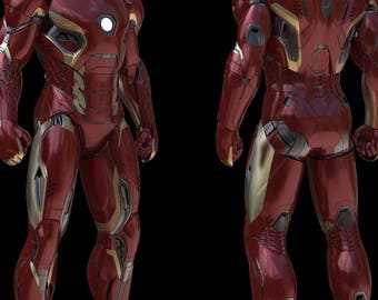 ALL PLASTIC - IRONMAN mark 45 armor complete costume for cosplay