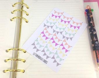 Cute Pastel Banner Planner Stickers; Pretty Stickers; Erin Condren; Filofaxing; Decorative Stickers; Multicoloured Stickers; Kawaii; Weekend
