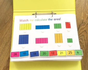Printable PDF download Year 4 folder, roman numerals, area, fractions, KS2, 12 sheets with removable pieces, timestables, Instructions