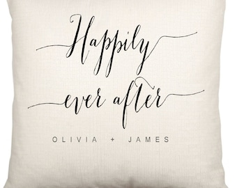 Couples Anniversary Happily Ever After Cushion Case