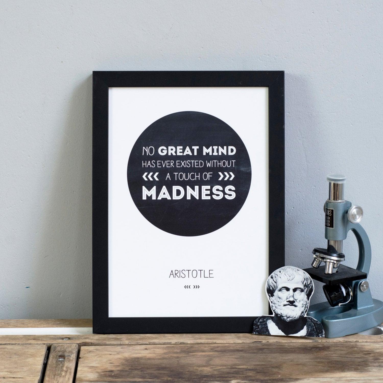 Aristoteles INSPIRATION Zitat Druck. Große Geister berühmter