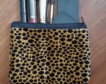 Leopard Print Zipper Pouch, Coin Purse, Catch-All Pouch