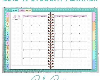 2018-19 Dated Digital Student Planner - Teal Cover