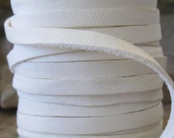 Luxurious White Calf Leather Lace 5MM 6 FT Deerskin Jewelry Cord