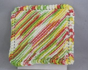 dishcloths, cotton dishcloths, hand knit dishcloths, knit dishcloths, washcloths, hand knit washcloths, knit washcloths, striped dishcloths