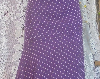 Purple  dot dress polka dot  20s/30s  style floaty  silk small from vintage opulence on Etsy
