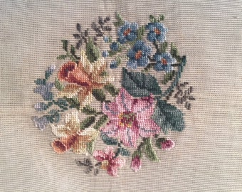 Needlepoint canvas - daffodils and flowers