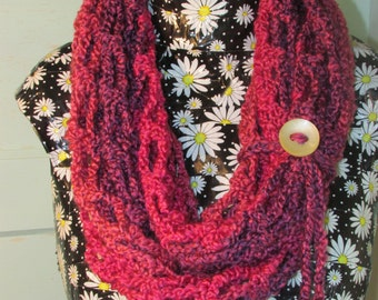 Pink Stripes Infinity Scarf