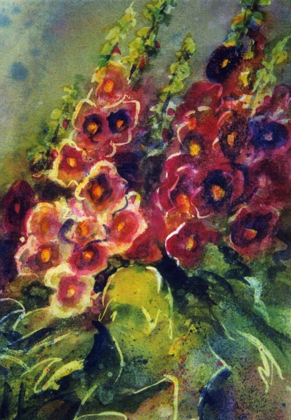 Profusions - signed print - watercolor - Bonnie White artist - Columbia River Gorge - floral print