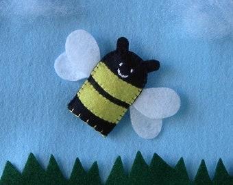 Bee Finger Puppet - Bumblebee Puppet - Felt Finger Puppet Honeybee - Bumble Bee Finger Puppet - Honey Bee Finger Puppet