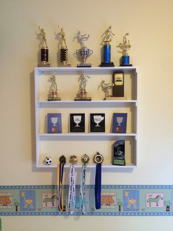 Trophy Shelf Plaques And Medal Display Rack Home