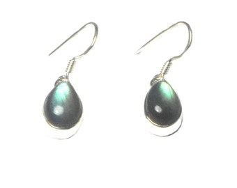 LABRADORITE Sterling Silver Gemstone Earrings