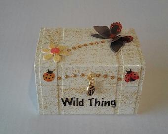 Wild Thing keepsake/trinket box