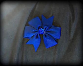 Navy blue bow