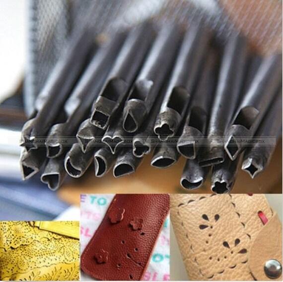 20 styles leather craft shape hole punch leather crafts for Leather shapes for crafts
