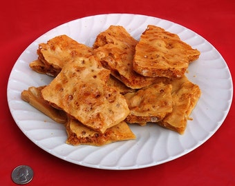 Peanut Brittle ONE LB - Ken's Airy Crunch Homemade Brittle Candy Bag