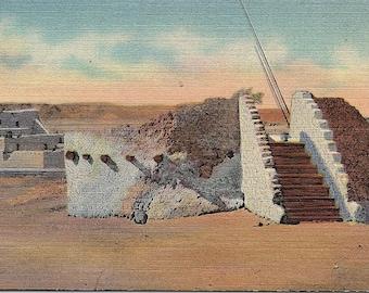 Pueblo Indian Estufa, Kiva, New Mexico - Vintage Postcard - Postcard - Unused (SS)