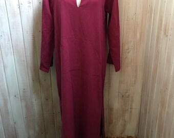 Vintage - long dress - plus-size - loincloth - Kangaroo Pocket - cotton - oversize - xl