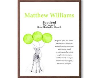 Baptism Gift For Boy - Christening Art Gift - Baptism Keepsake - Dedication Gift