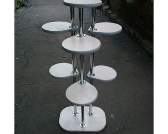 "Free ship! Plant stand ""Florence"" Oak milk / Grey. Special for Nat Kiyu"