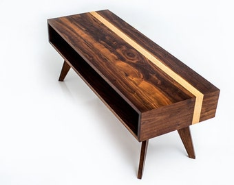 Mid Century Modern Coffee Table, Coffee Table, Modern Coffee Table, Walnut Coffee  Table
