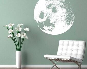 Moon Decal - Moon Home Decor Sticker - Customize Moon Color for Home Decor - SKU:MOONWDEC
