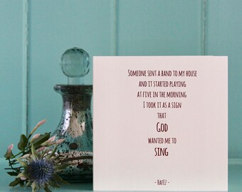Uplifting , Live In The Moment , Encouragement , Friendship Card , Spiritual Guidance , The Power Of Now , Hafiz Poetry , Hafez , Sufi Card.