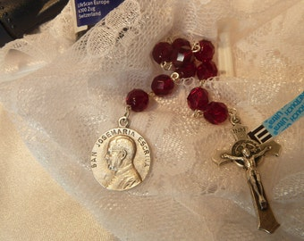 St. Josemaria Escriva~Single Decade Rosary Chaplet,Patron of Diabetes,Opus Dei