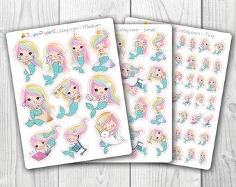 Rainbow Hair Mermaid Stickers