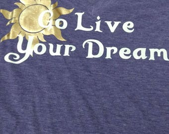 Disney Rapunzel Go Live your Dream Tee