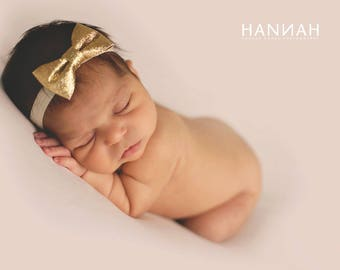 gold glitter bow headband- glitter bow headband- glitter bows- pink glitter bow headband- glitter bows- sparkle headband- baby glitter bows