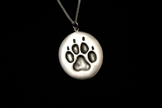 Dog paw necklace, animal paws jewelry, animal paws, dogs foot print, animal jewelry, dog keepers sign, dog lovers, sterling silver handmade