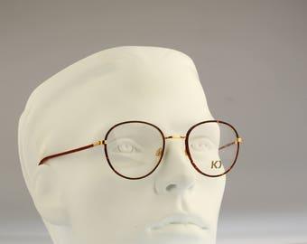 Kadima Student 2 47, Vintage round eyeglasses, 90s mens & women panto optical frame, unique and rare / NOS