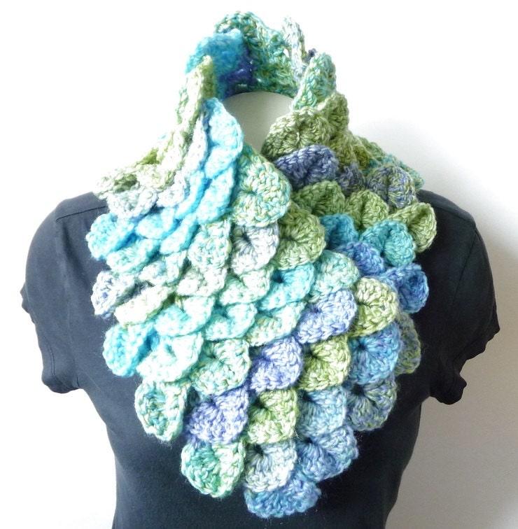 Cowl Scarf Crochet Pattern Crocodile Stitch Crochet Neckwarmer