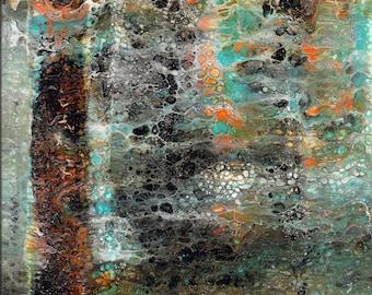 Black Forest - A Digital Print Of An Original Acrylic Pour