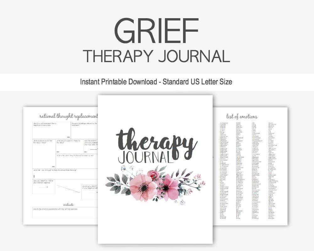 Grief Therapy Journal: Mental Health Depression Anxiety