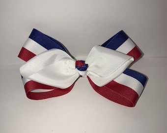 Red, white, & blue bow