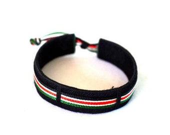 Kenyan Flag cloth Threaded bracelet | patriot bracelet | Kenya Daima Bracelet | Nowhere like home