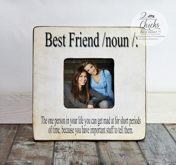 Best Friend Definition Picture Frame, Funny Friend Picture Frame ...