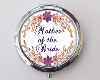 Mother Of The Bride Gift, Compact Mirror, Purse Mirror