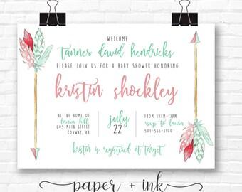 Tribal Arrow Invitations